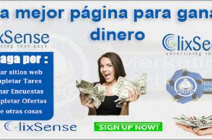 Gana dinero por internet clixsense