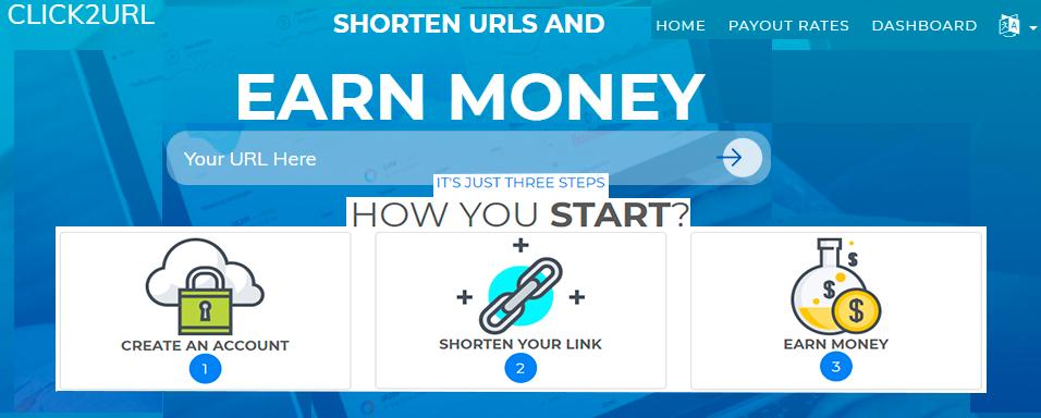 comparte y gana dinero acortando enlaces click2url
